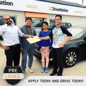 Happy Customer Buying A Used Car
