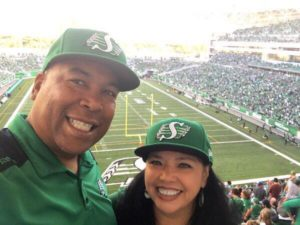Happy Customers At RoughRider Game In Saskatchewan