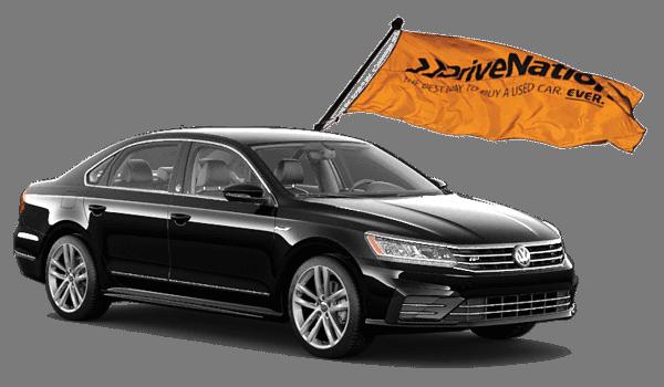 Black Volkswagen Jetta With DriveNation Flag